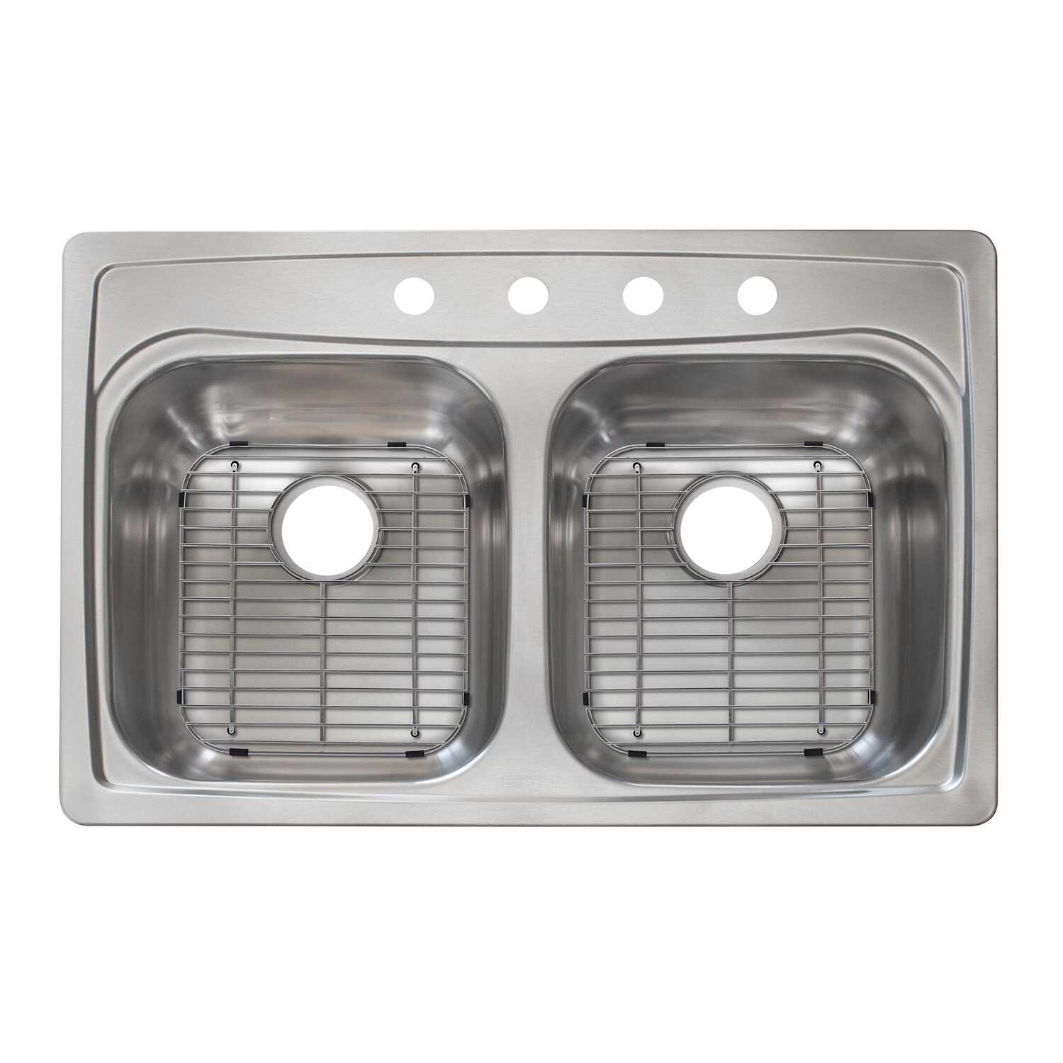 Franke  Stainless Steel  Top Mount  33 in. W x 22 in. L Kitchen Sink