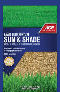 Ace  Ace Sun & Shade  Mixed  Lawn Seed Mixture  3 lb.