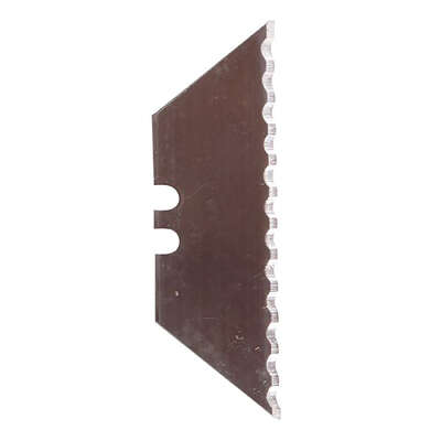 Steel Grip  Steel  Serrated  Utility Blade  5 pc.