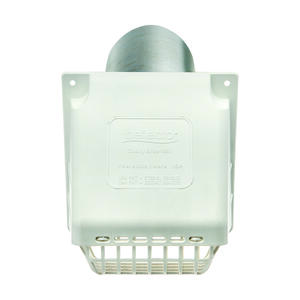 Ace  4 in. W x 6 in. L White  Plastic  Dryer Vent Hood