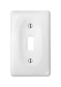 Amerelle  Allena  White  1 gang Ceramic  Toggle  Wall Plate  1 pk