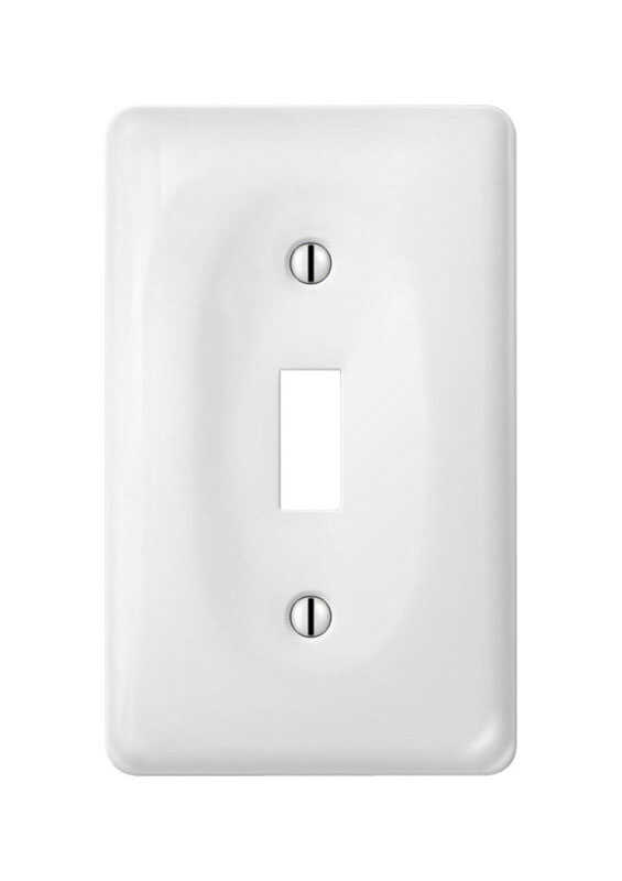 Amerelle  Allena  White  1 gang Toggle  Wall Plate  1 pk Ceramic