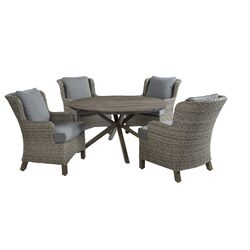 Living Accents  5 pc. Brown  Wicker  Patio Set  Gray