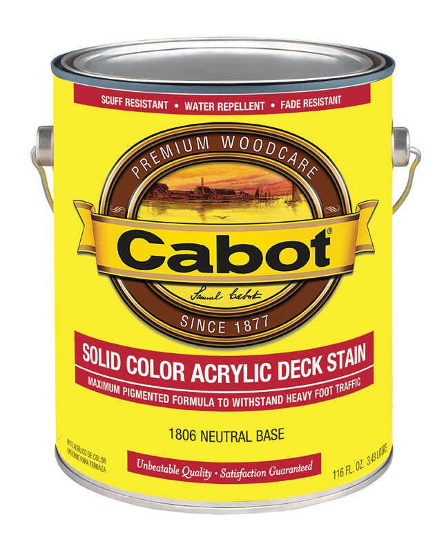 Cabot  Solid  Tintable Oil-Based  Acrylic  Deck Stain  1 gal.