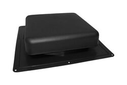 Master Flow 4 in. H x 18 in. W x 18.5 in. L Black Resin Roof Vent