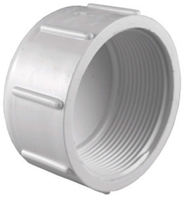 Charlotte Pipe  Schedule 40  1-1/4 in. FPT   x 1-1/4 in. Dia. FPT  PVC  Cap