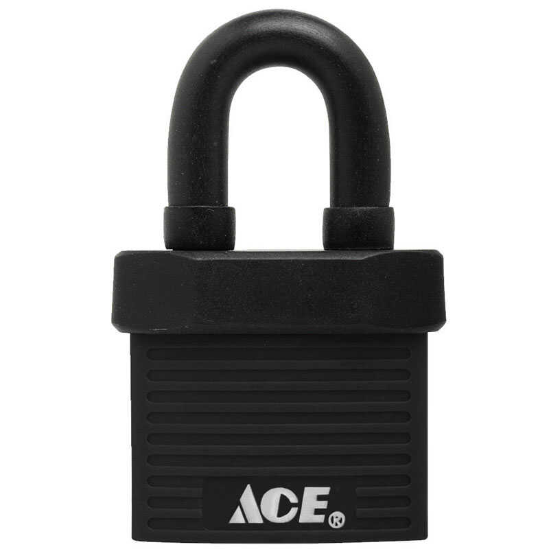 Ace  1-3/8 in. H x 13/16 in. L x 1-3/8 in. W Steel  Double Locking  Padlock  1 pk