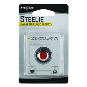 Nite Ize  Steelie  Silver  Magnet Phone Socket  For Universal Universal