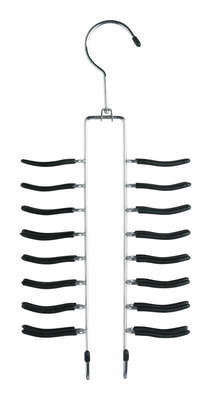 Honey Can Do  14-1/2 in. H x 1-3/4 in. W x 6-3/4 in. L Metal  Non-Slip Tie/Belt Organizer  1 pk