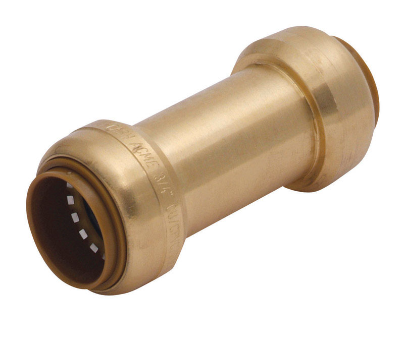 SharkBite  3/4 in. Sharkbite X 3/4 in. Sharkbite  Brass  Spring Loaded  Check Valve
