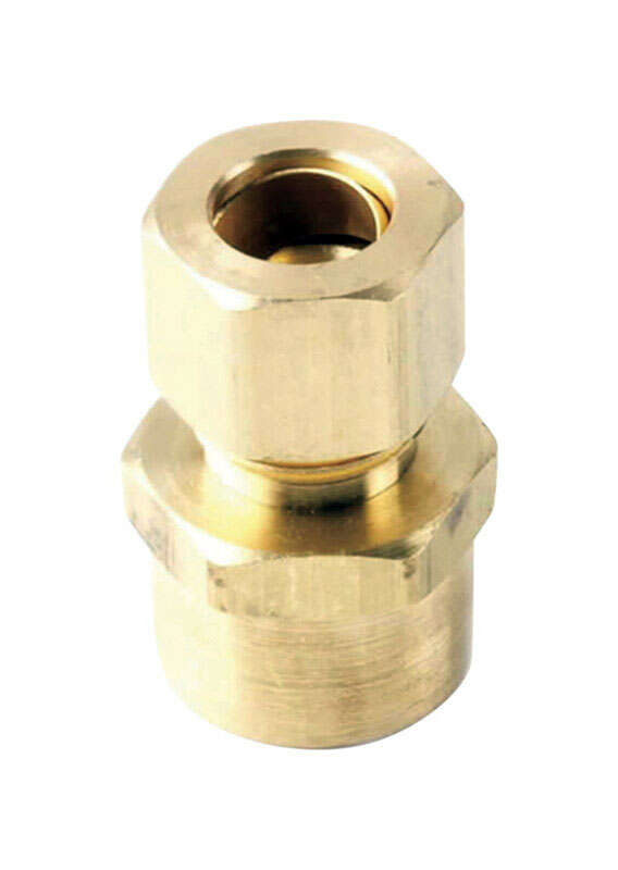 JMF  3/8 in. Compression   x 1/2 in. Dia. Sweat  Brass  Adapter