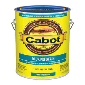 Cabot  Decking Stain  Solid  Tintable Neutral Base  Oil-Based  Deck Stain  1 gal.