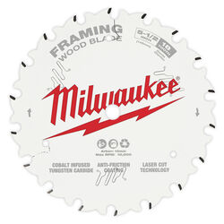 Milwaukee  5-1/2 in. Dia. x 10 mm  Framing Blade  Tungsten Carbide  18 teeth 1 pk
