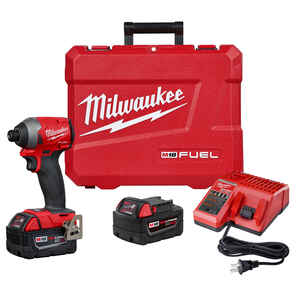 Milwaukee  M18 FUEL  18 volt 1/4 in. Hex  Cordless  Brushless Impact Driver  Kit 3600 rpm 4300 ipm 2