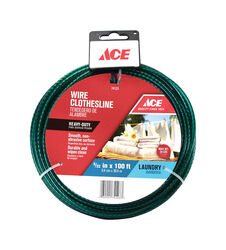 Ace  100 ft. L Green  PVC  Clothesline