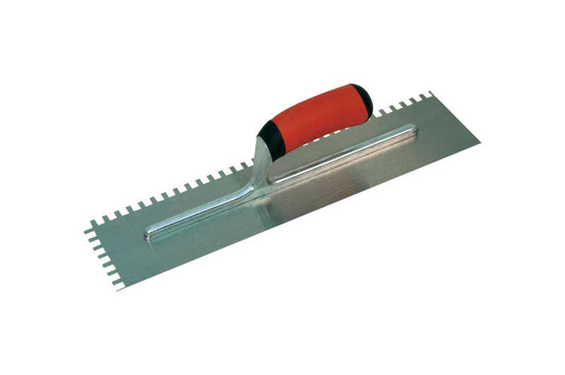 Marshalltown  4-1/2 in. W x 16 in. L Steel  Notched  Trowel