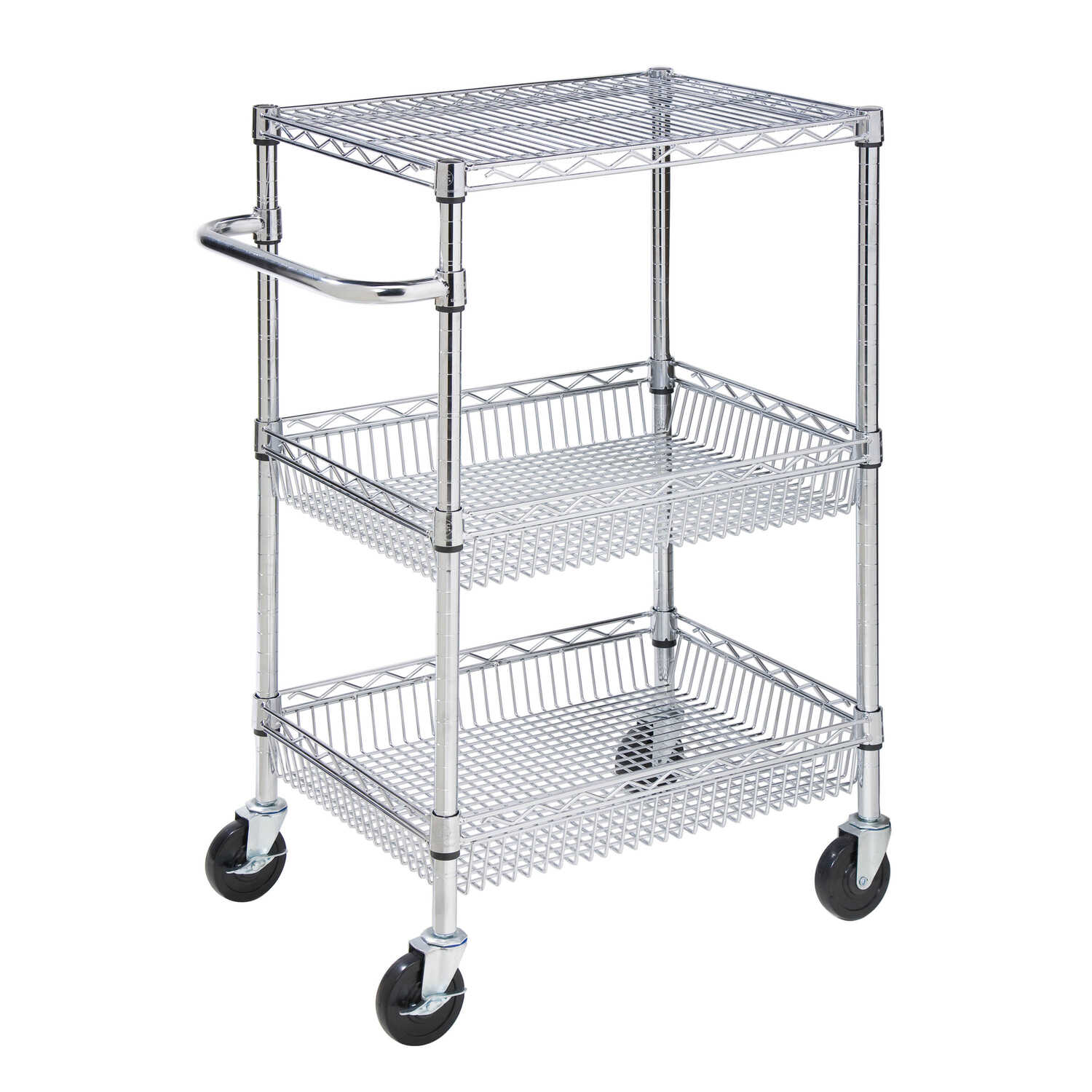 Honey Can Do  40 in. H x 18 in. W x 24 in. D Utility Cart