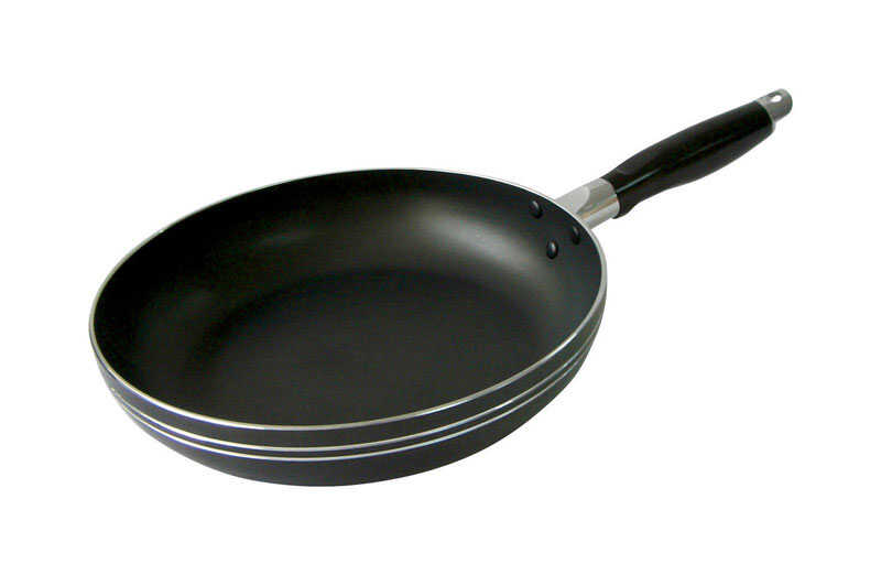 Bene Casa  Aluminum  Fry Pan  10 in. Black