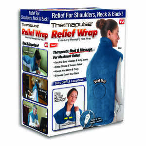 Thermapulse Relief Wrap  As Seen On TV  Massaging Heat Wrap-Blue