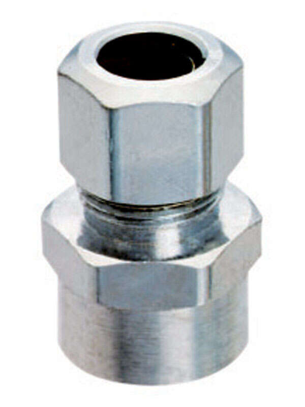 Ace  1/2 in. Sweat   x 3/8 in. Dia. Compression  Brass  Straight Connector