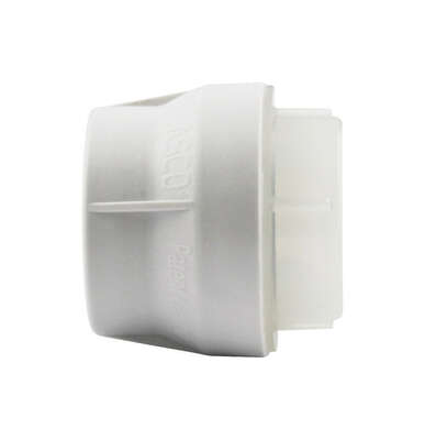 Lasco  Schedule 40  1 in. Push   x 1 in. Dia. Push  PVC  Cap
