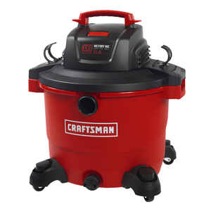 Craftsman  16 gal. Corded  Wet/Dry Vacuum  12 amps 120 volt Red  27 lb.