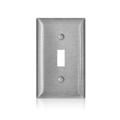 Leviton  C-Series  Satin  Silver  1 gang Stainless Steel  Toggle  Wall Plate  1 pk