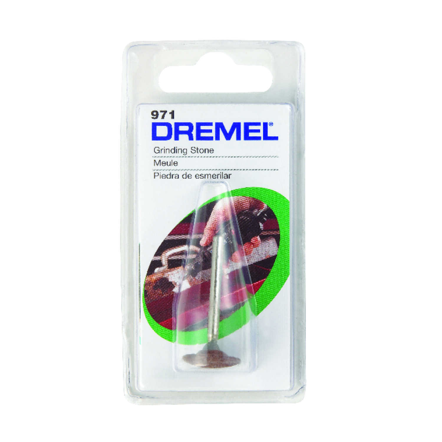 Dremel  5/8 in. Dia. x 5/8 in. L Aluminum Oxide  Domed  35000 rpm 1 pc. Grinding Stone