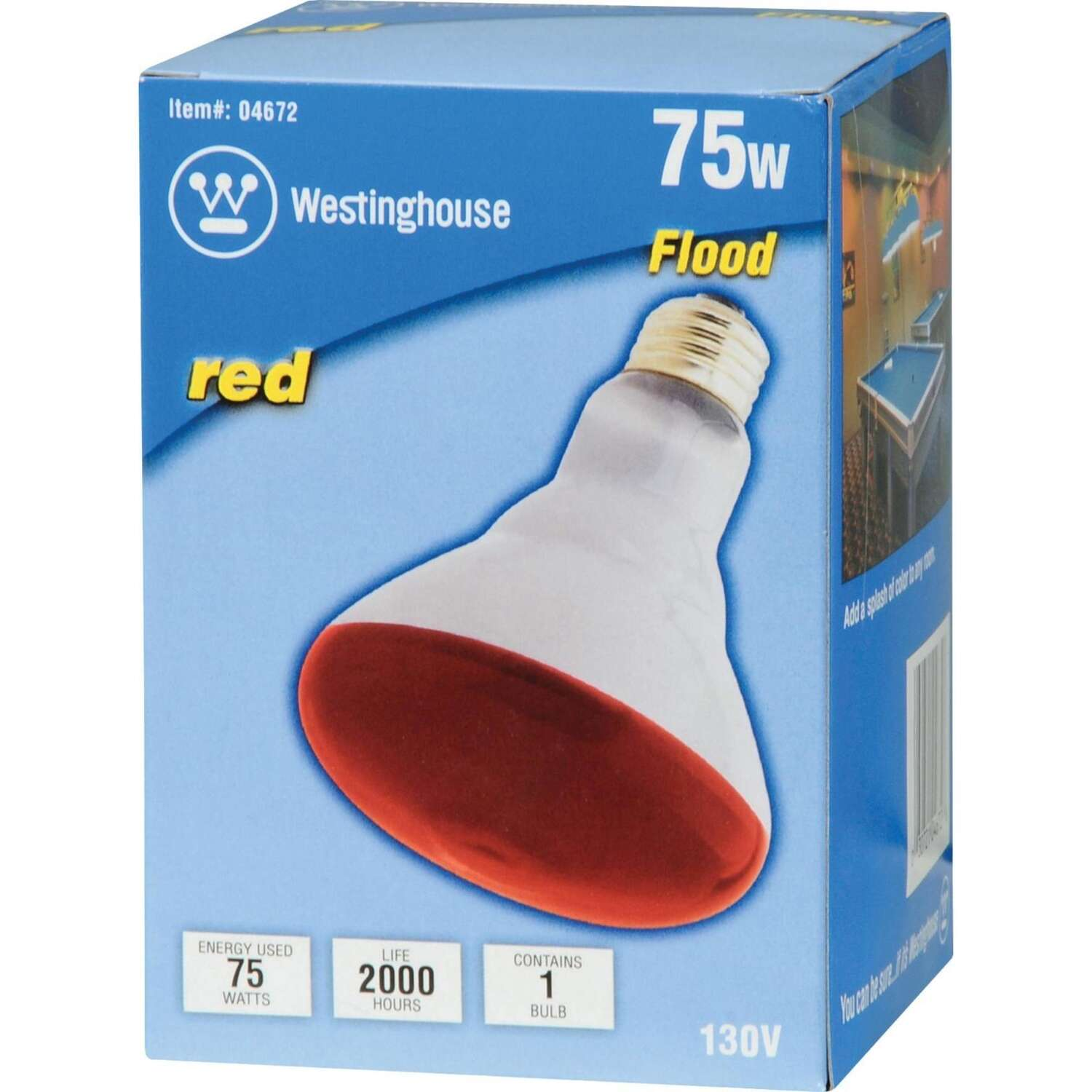 Westinghouse  75 watts BR30  Incandescent Bulb  Red  Floodlight  1 pk