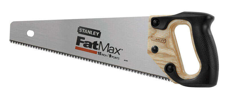Stanley FatMax  15 in. Carbon Steel  Hand Saw  9 TPI