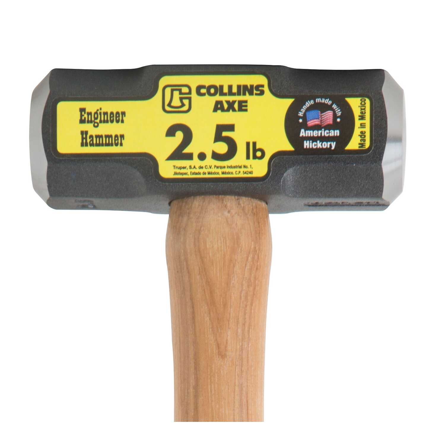 Collins  2-1/2 lb. Forged High Carbon Steel Head Engineer Hammer  16 in. L x 1.6 in. Dia.