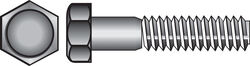 Hillman  1/4-20 in. Dia. x 3 in. L Stainless Steel  Hex Head Cap Screw  50 pk