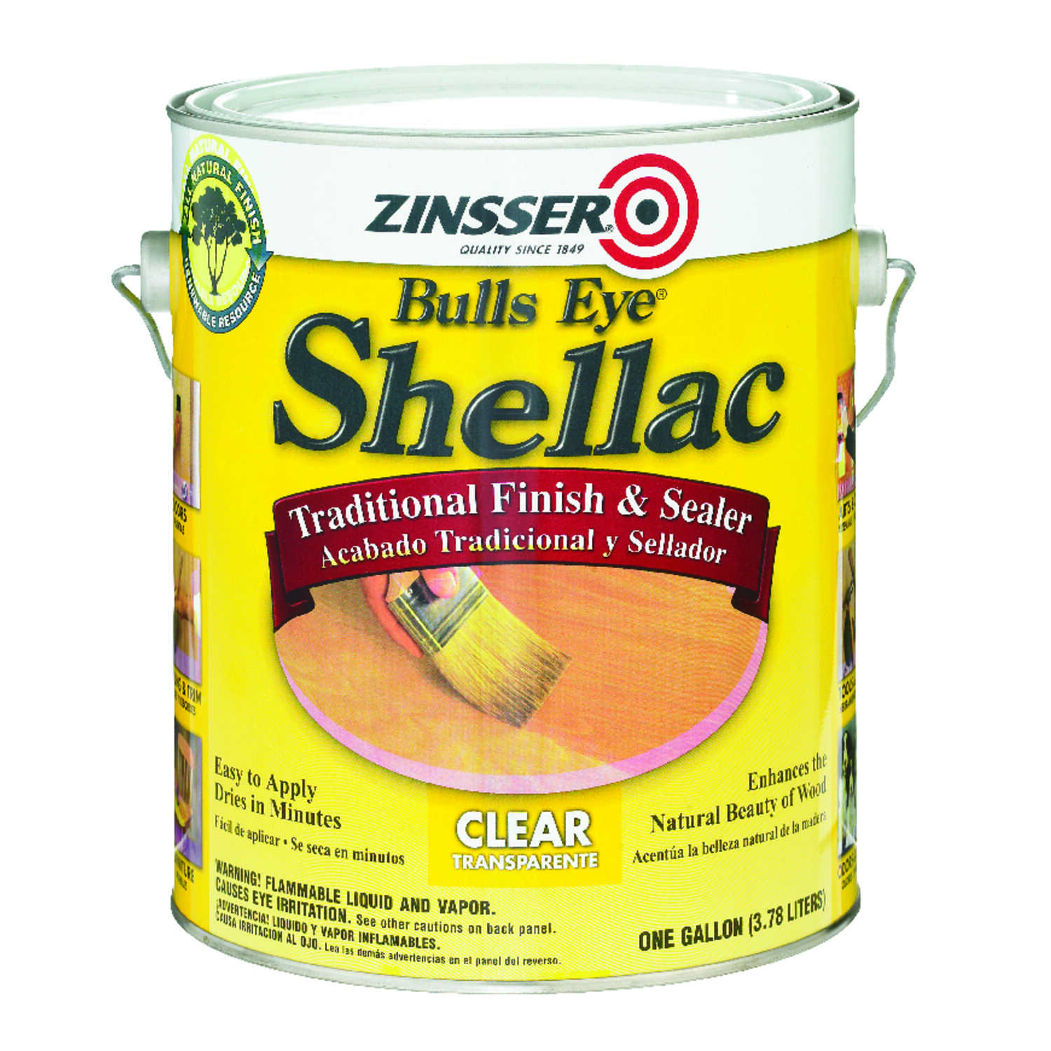 Zinsser  Bulls Eye Shellac  Clear  Shellac  1 gal. Finish and Sealer