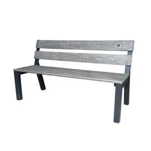 Bond Manufacturing  Cantera  Park Bench  Steel  33.46 in. H x 23.62 in. D x 59.06 in. L
