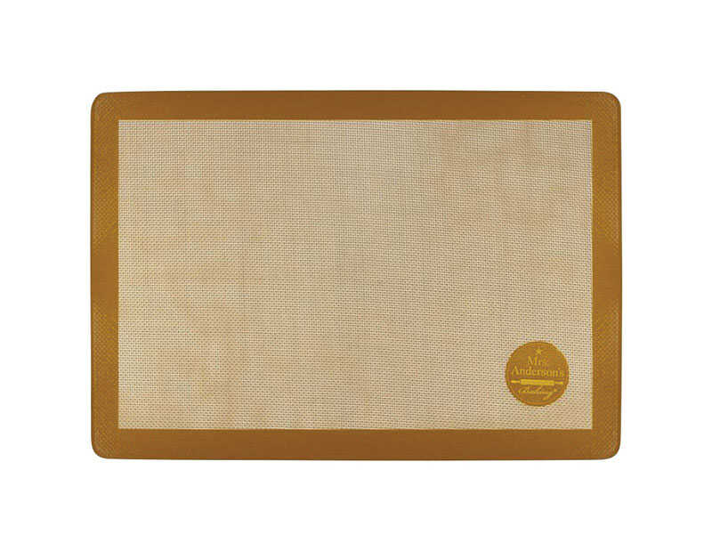 Mrs. Anderson's  Baking  11-5/8 in. W x 16-1/2 in. L Baking Mat  Tan
