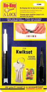 Prime-Line  Metal  Re-Keying Kit  4 pk