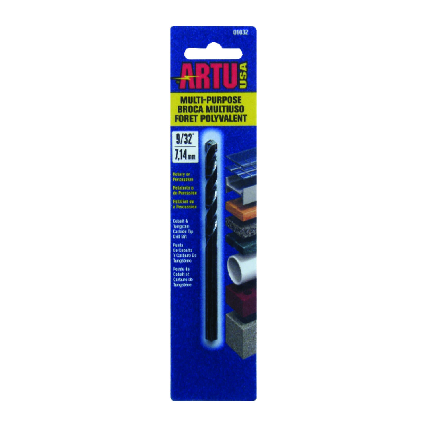 ARTU 9/32 in. x 4-3/8 in. L Tungsten Carbide Tipped Drill Bit 1 pc.