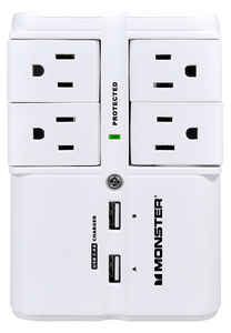 Monster Cable  Just Power It Up  540 J 4 outlets Surge Tap