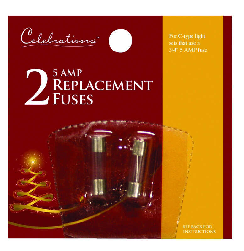 Celebrations  C-Type  5 Amp  Replacement Fuses  Clear  2 pk
