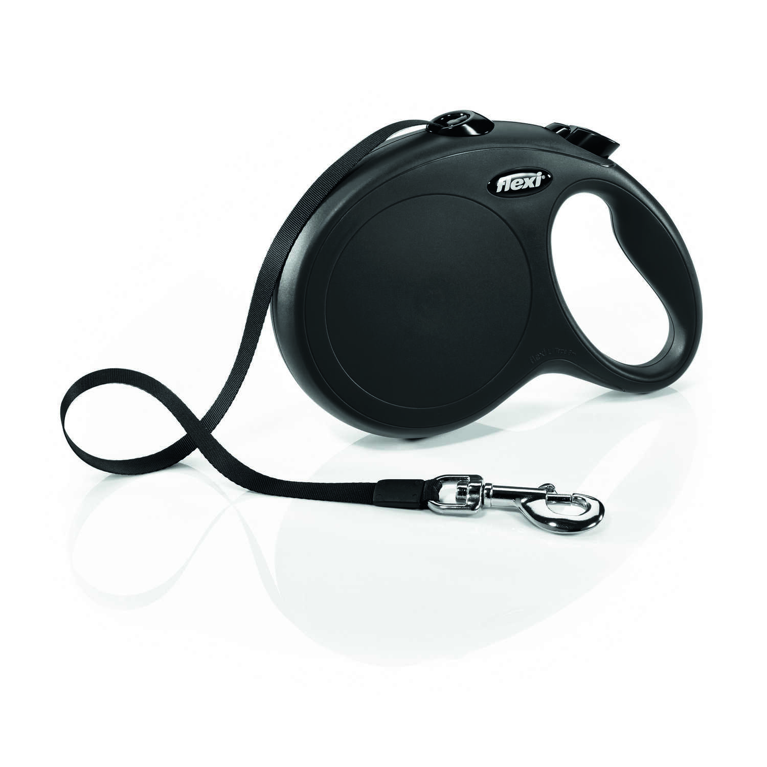 Flexi  Explore  Black  Nylon  Retractable Leash  Large