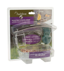 Audubon  Wild Bird  1 lb. Plastic  Window Mount  Bird Feeder  2 ports