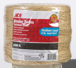 Ace  2500 ft. L Brown  Twisted  Sisal  Twine