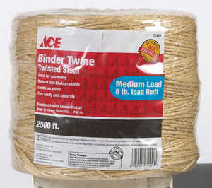 Ace  2500 ft. L Twisted  Sisal  Brown  Twine