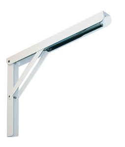 Knape & Vogt  White  Steel  Folding L  Ornamental Shelf Bracket Screws  10.63 in. H x 16 in. L 750 l