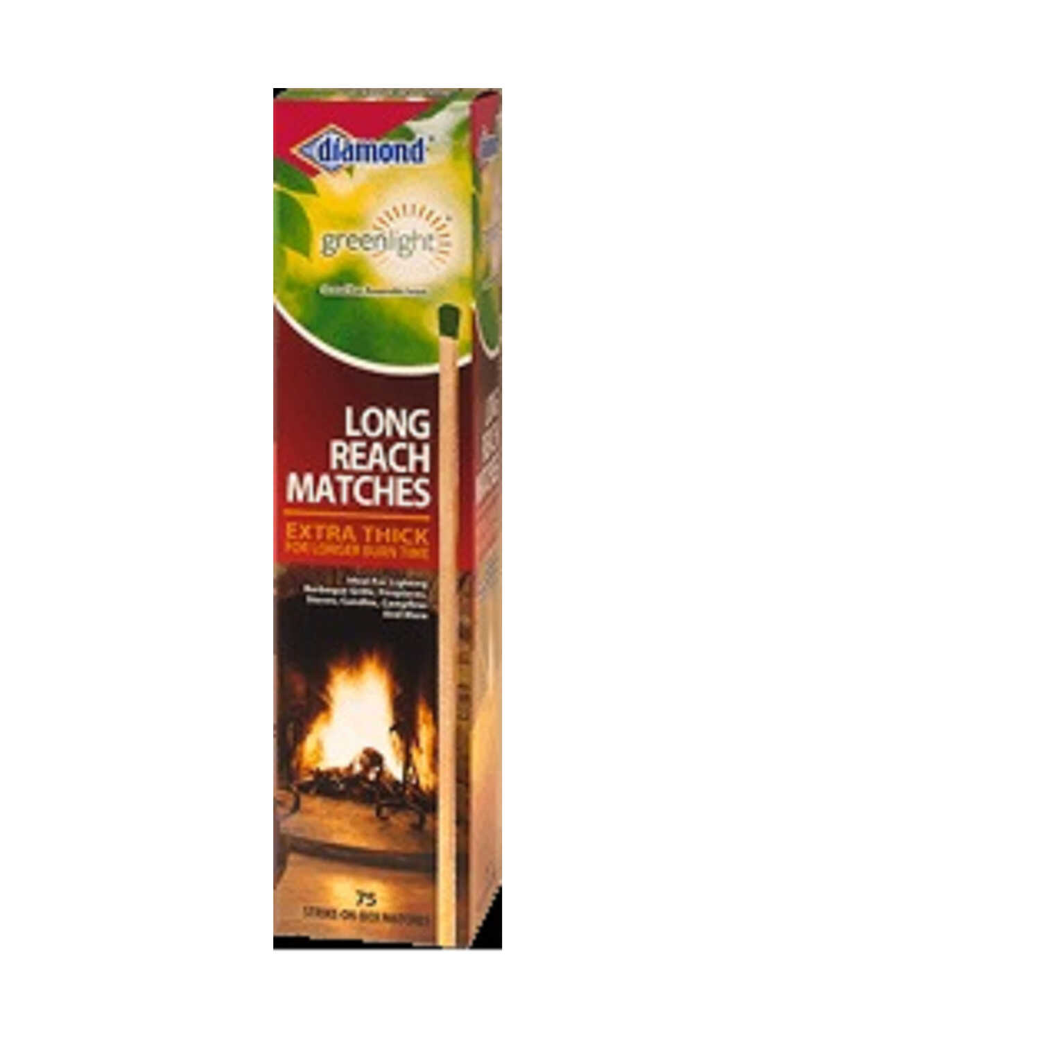 Diamond  10 in. L Long Reach Matches  75 pc.