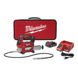 Milwaukee  Cordless Electric  Metal  Grease Gun Kit  14 oz. M18
