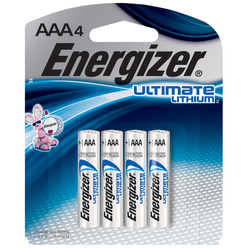 Energizer  Lithium  1.5 volt Lithium Battery  4 pk AAA
