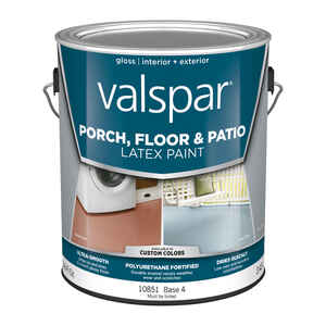 Valspar  Gloss  Clear  Base 4  Latex  Porch & Floor Paint  1 gal.