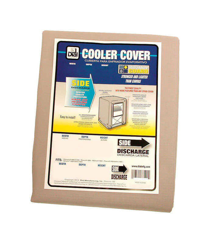 Dial  Polyester  Tan  Evaporative Cooler Cover