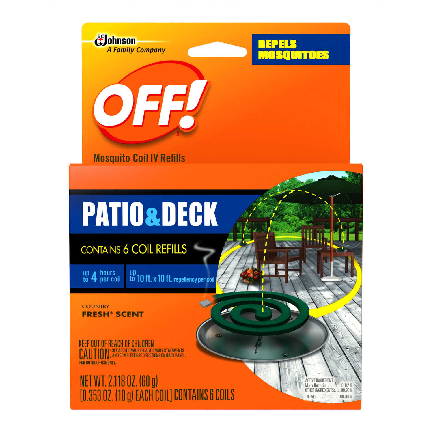 OFF! Insect Repellent Refill Coil For Mosquitoes 5 oz  - Ace